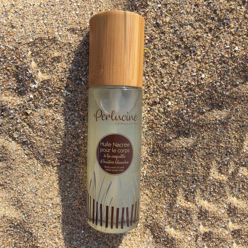 huile corps nourrissante naturelle perlucine